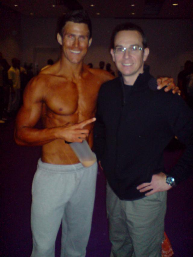 Image of Personal Trainer Tim Sharp With a client a competition