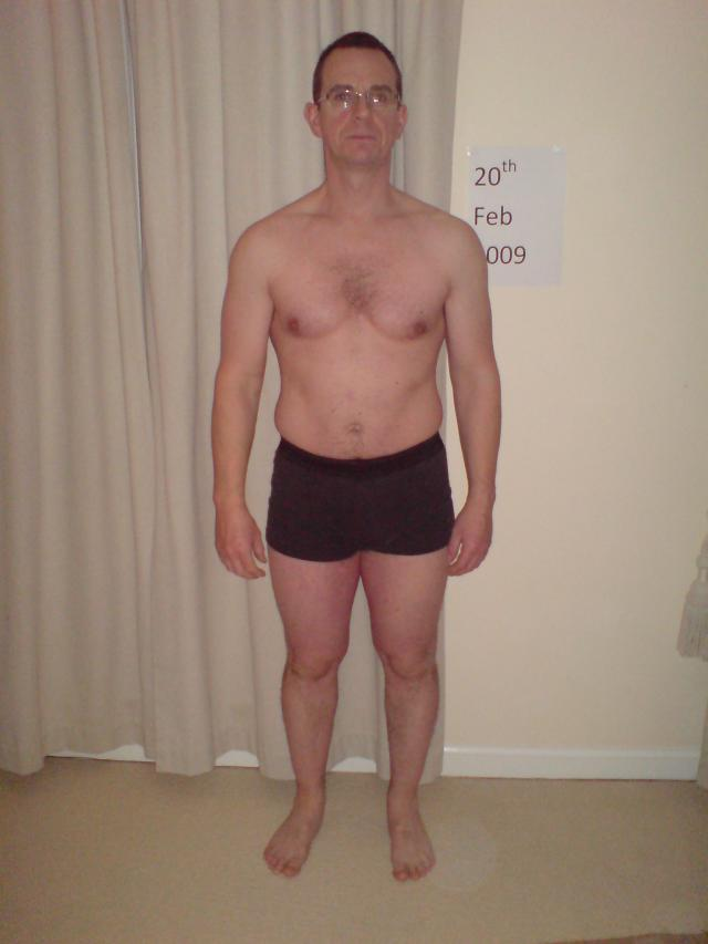 Image of Tim Sharp 20.2.09 first day of diet