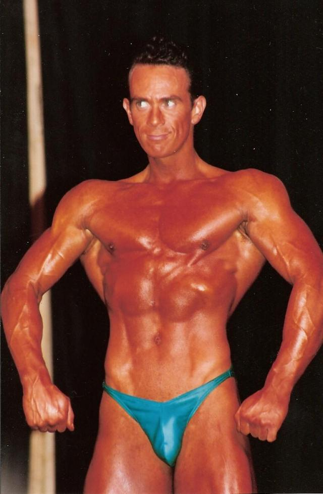 Image of Personal Trainer Tim Sharp 1993 at London Championships winning! 26 years old