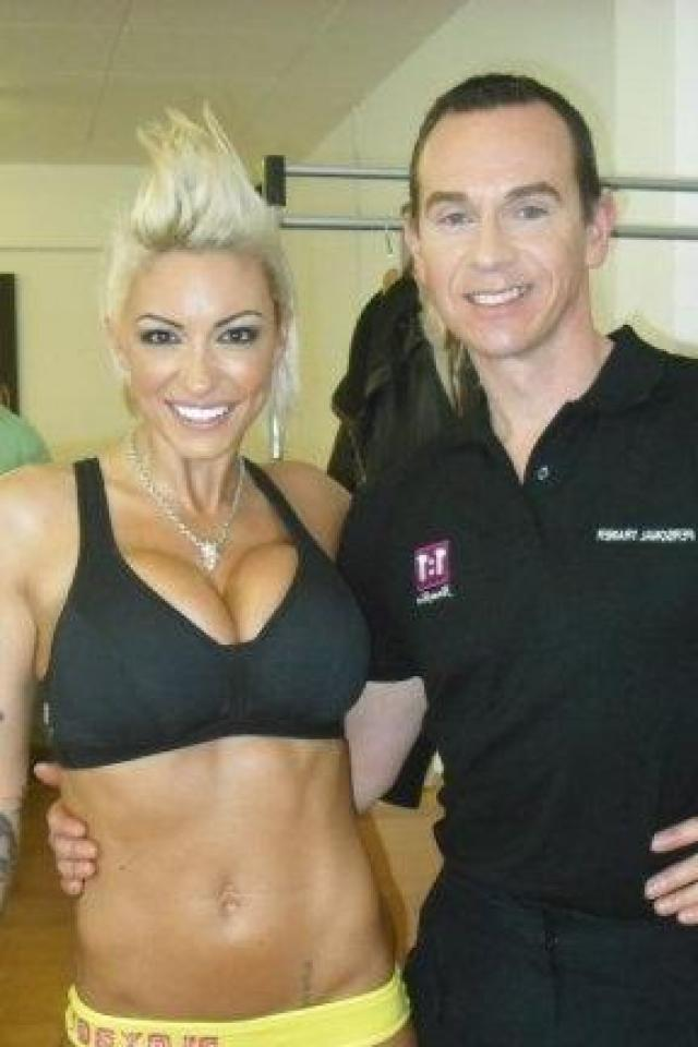 Image of Me and my client Jodie Marsh 2009 at photo shoot