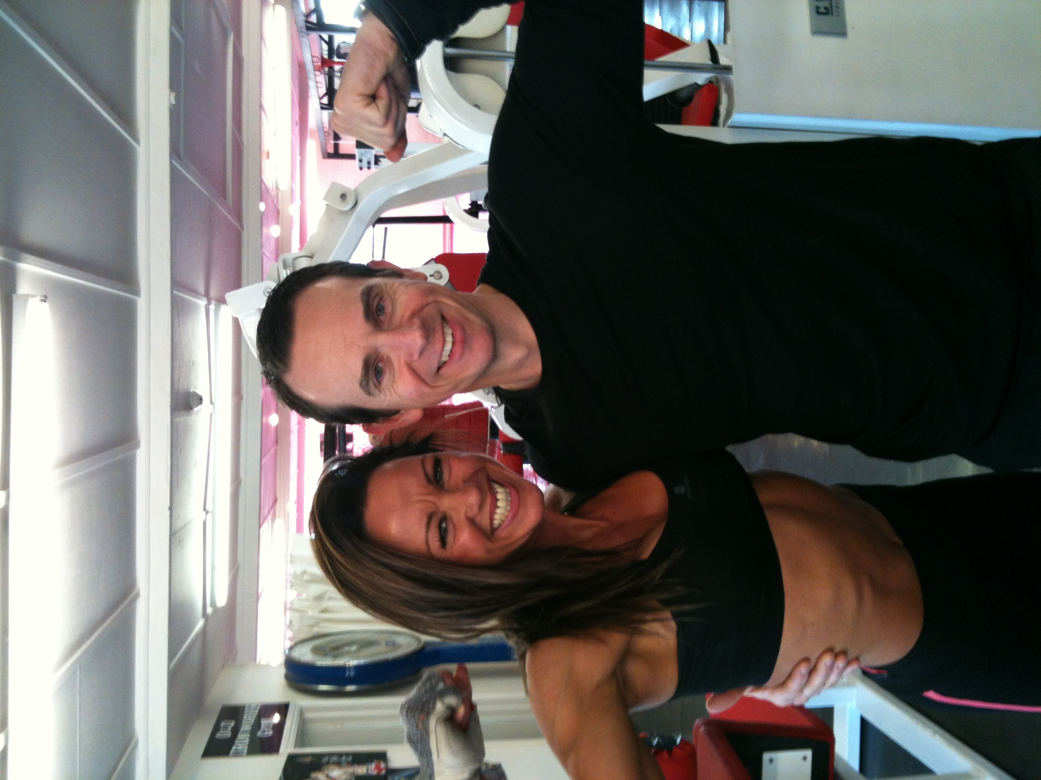 An image of Personal Trainer Tim Sharp with Rachel  goes here.