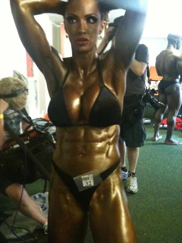 image showing Jodie Marsh Bodybuilder Trained by Tim Sharp Personal Trainer