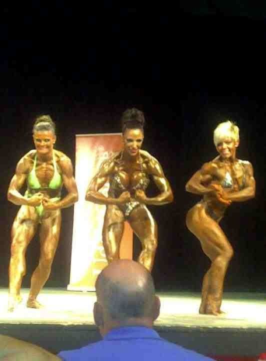 Image of Jodie Marsh on stage 2011 trained by Personal Trainer Tim Sharp