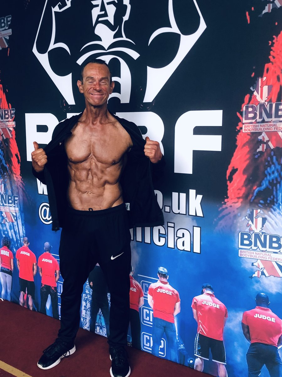image of image: 2 of 32Tim poses at the 2019 BNBF Central Contest on his way to collect 3<sup>rd</sup> spot in the Over 50s category.