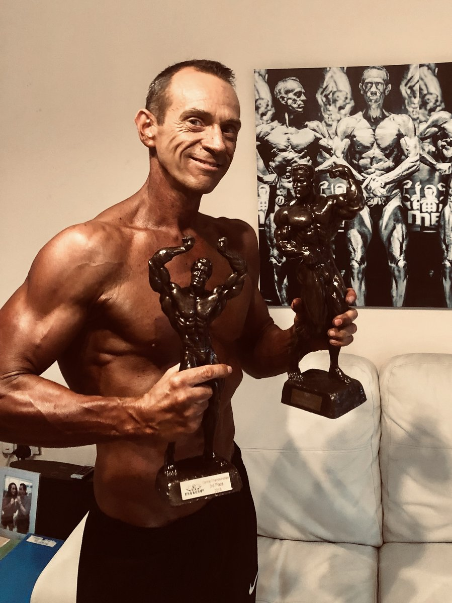image of image: 11 of 32Tim poses at the 2019 BNBF Central Contest on his way to collect 3<sup>rd</sup> spot in the Over 50s category.