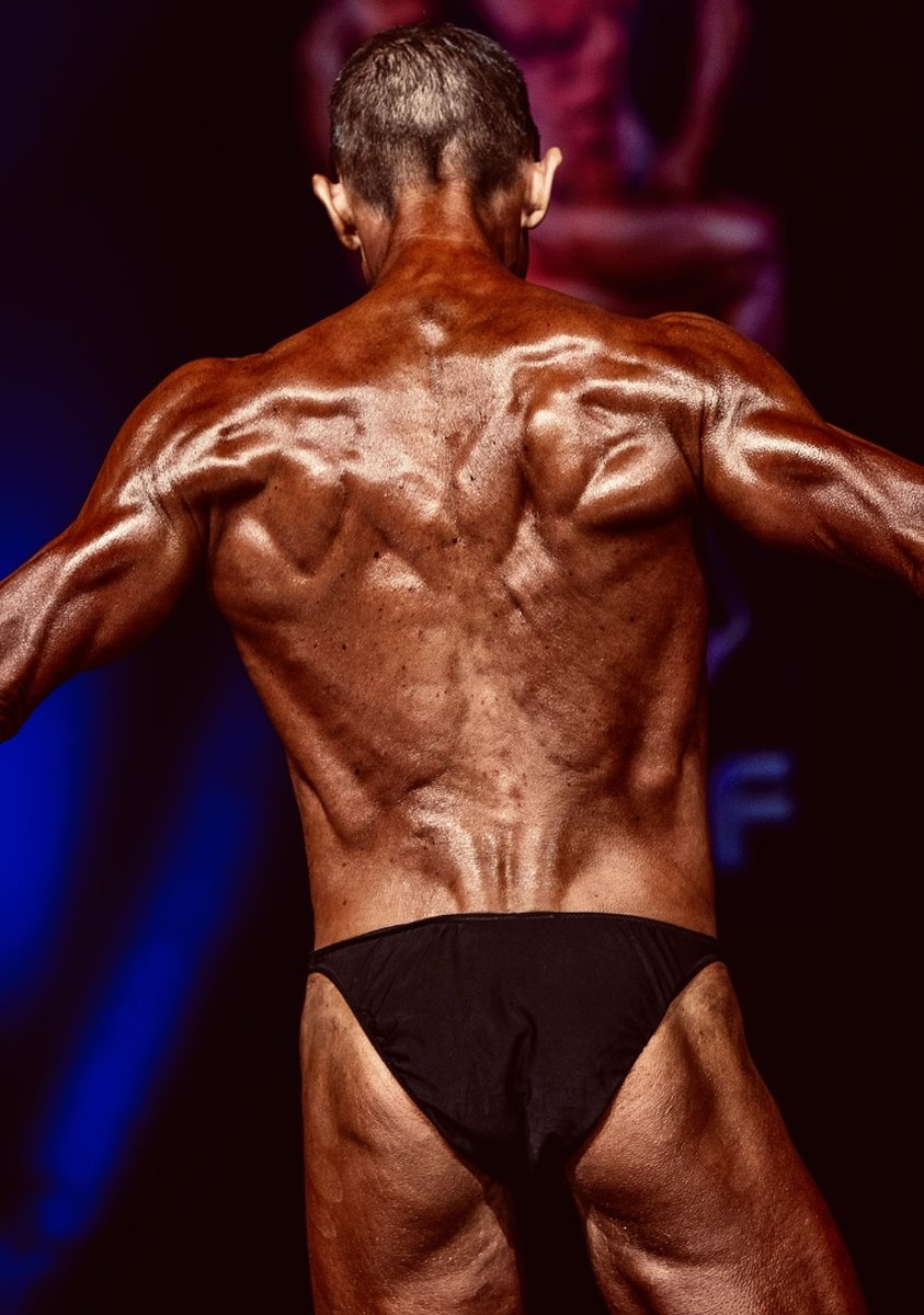 image of image: 16 of 32Tim poses at the 2019 BNBF Central Contest on his way to collect 3<sup>rd</sup> spot in the Over 50s category.