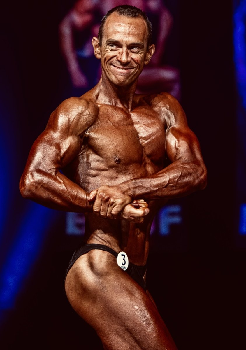 image of image: 17 of 32Tim poses at the 2019 BNBF Central Contest on his way to collect 3<sup>rd</sup> spot in the Over 50s category.