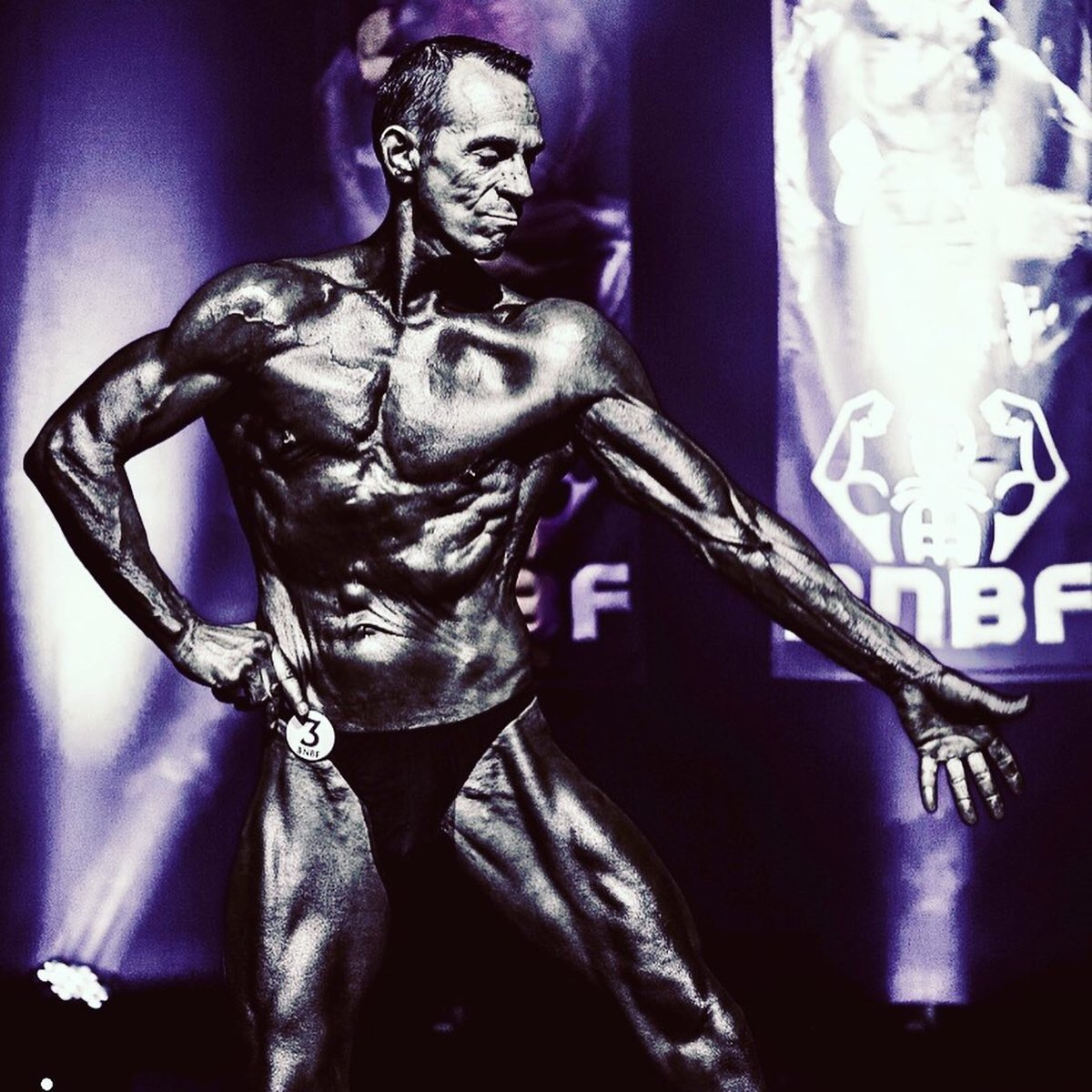 image of image: 30 of 32Tim poses at the 2019 BNBF Central Contest on his way to collect 3<sup>rd</sup> spot in the Over 50s category.