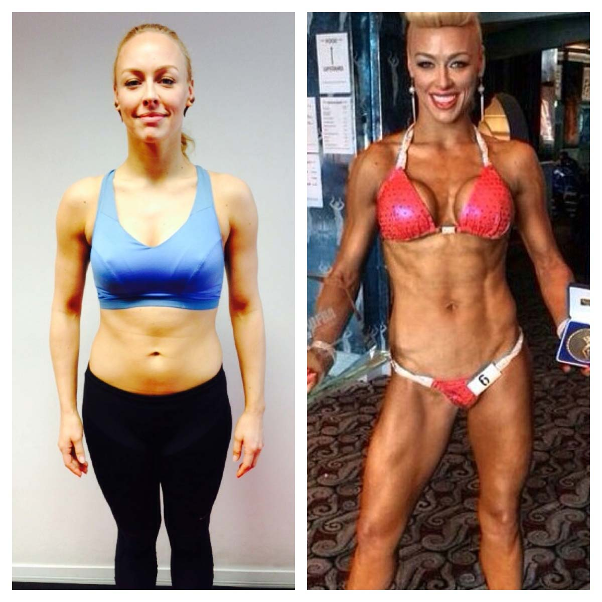 Image of Hayley SteeleUnited Kingdom UKDFBA Amateur Fit Body Champion before and after