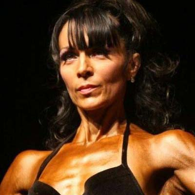 Debbie Francis Figure Champ: Tim and 47 year mum Debbie, have worked together to build her the physique that took her to Miss Britain runner up, MsWales, Ms Central and Southern titles.