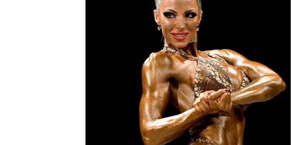 Image of Jodie Marsh Bodybuilding debut in 2011 Trainer by TIm Sharp