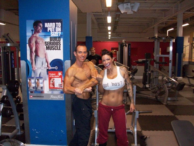 Image of Celebrity Personal Trainer Tim Sharp In October 2009 Jodie Marsh has built a body that the media can`t get enough of with the help of Tim Sharp