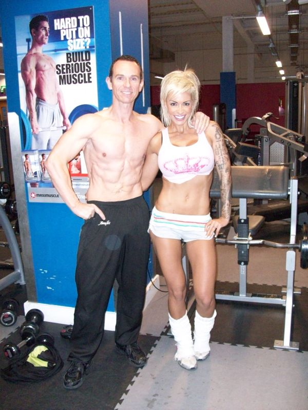 Image of Celebrity Personal Trainer Tim Sharp With Jodie Marsh has built a body that the media can`t get enough of with the help of Tim Sharp