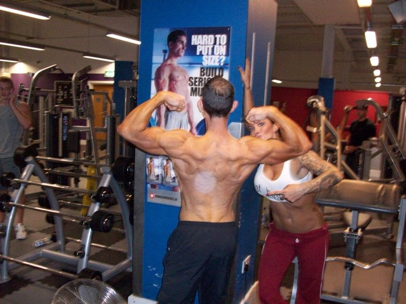 Image of Celebrity Personal Trainer Tim Sharp With Jodie Marsh