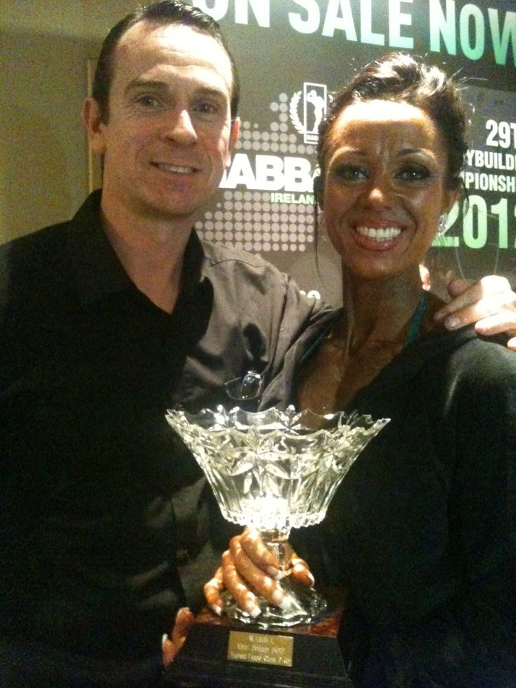 Image of Rachel 6th place Nabba Britain Trained Figure. On to the Universe now!