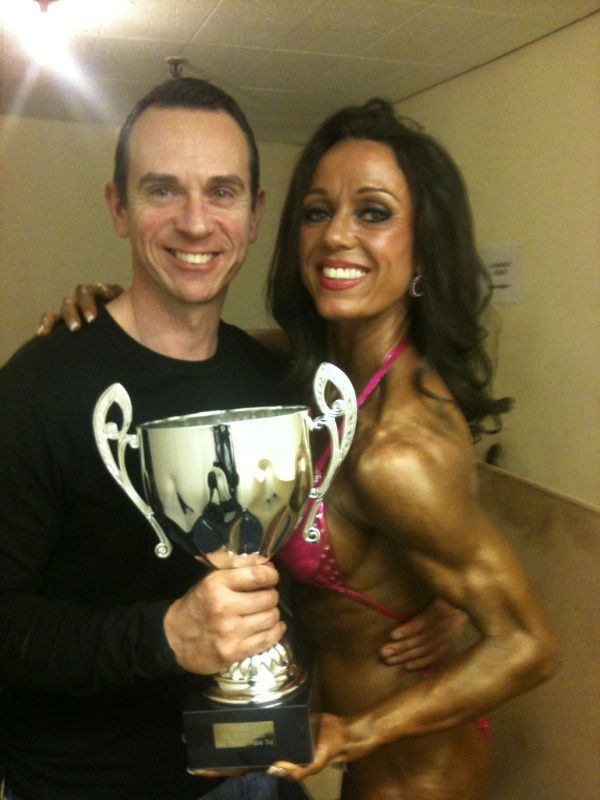 Image of Rachel 2nd place Nabba South East trained figure