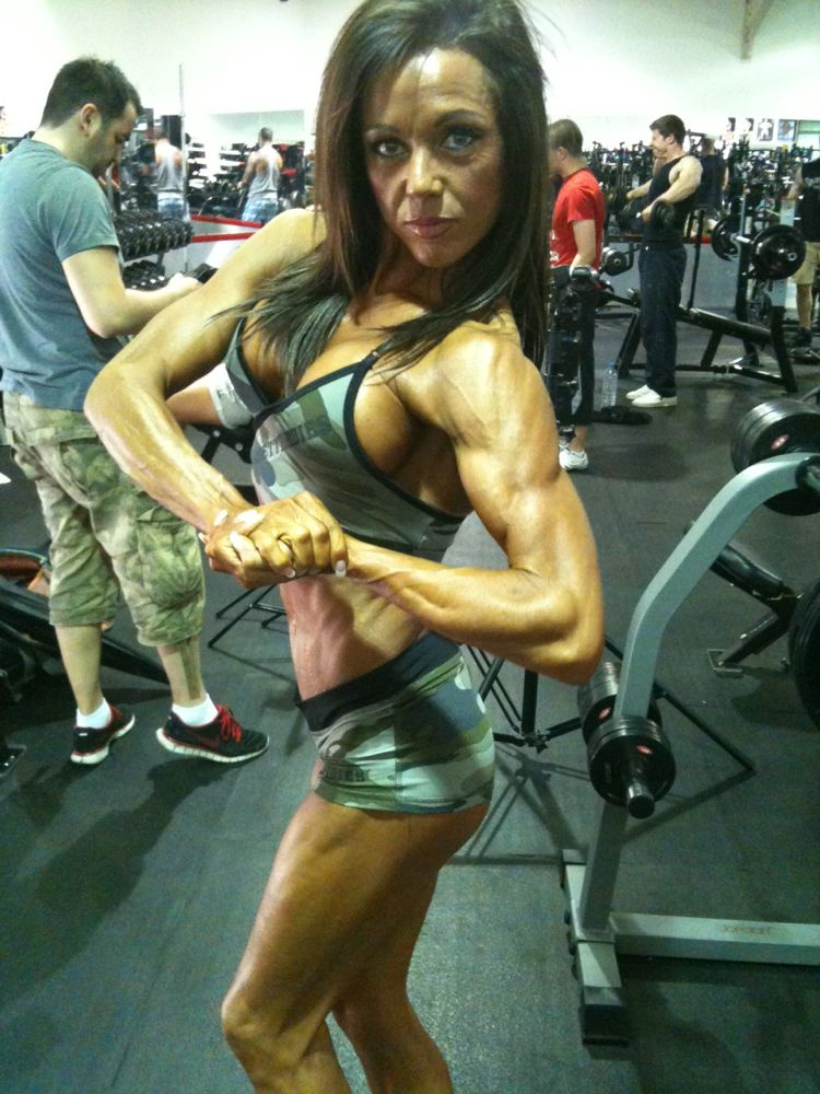 image showing Rachel before Nabba Britain at Gareth Dix photo shoot