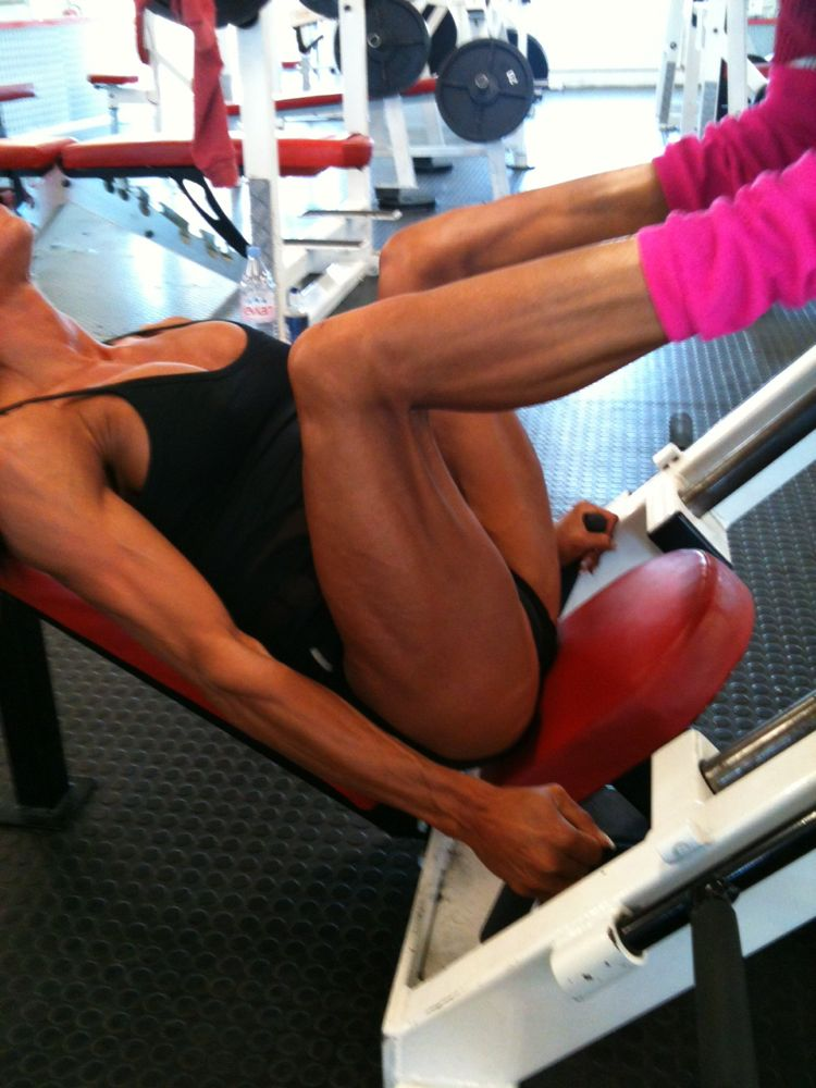 Image of Rachel hitting legs June 2012