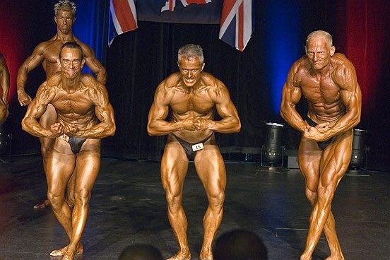 image showing Tim Sharp most muscular 2007 BNBF British Championships Masters Class 4th Place